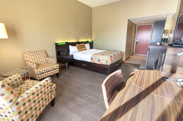 Trendy Room with Queen Bed and Fireplace (#3) at Hotel Must by JARO Hotels of Quebec City
