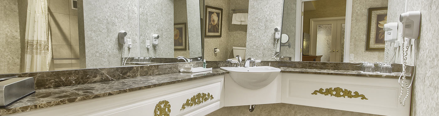 Adapted old quebec signature suite with whirlpool bath and for Jardin therapeutique