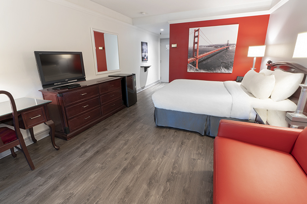 Traditional Room with Queen Bed and Garden View Terrace (#10) at Hotel Québec Inn by JARO Hotels of Quebec City