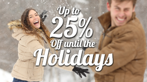 Save 25 percent off lodging before the holidays