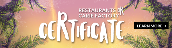 JARO Summer - Option 2 - Certificate for JARO restaurants OR the Centre d'amusement Carie Factory