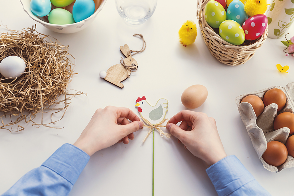 Decorations and crafts for the perfect Easter activity guide