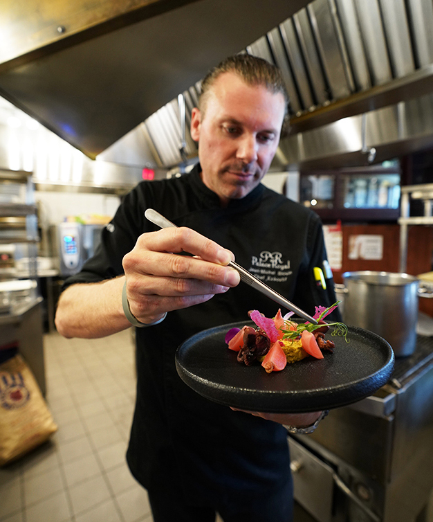 Passionate, creative, motivated; his love for cooking has not changed since the opening of the restaurant in 2000.