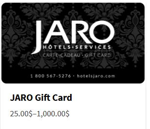 We offer JARO gift cards