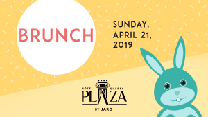 Menu of the Easter brunch in the ballroom of Hotel Plaza Québec by JARO Hotels of Quebec City
