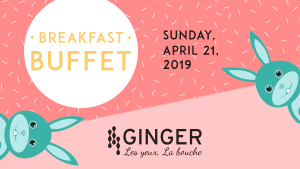 Easter Beakfast buffet at Ginger restaurant at Hotel Plaza Québec by JARO Hotels of Quebec City